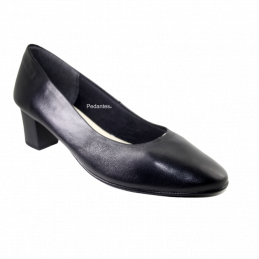 Sapato Senhora Em Pele Com...