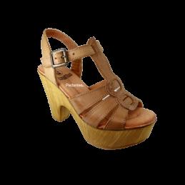 Sandália Senhora Em Pele...